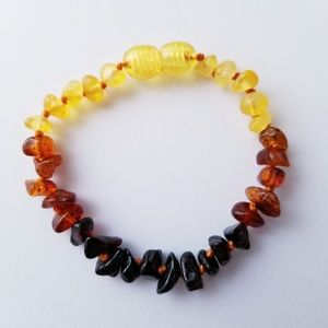 Other - Lithuanian Baltic Amber Toddler Anklet - Ombre